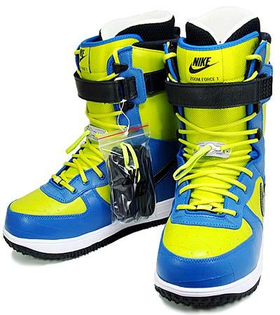 nike snowboarding zoom force 1 boots [bright cactus/black] (334841-301) ナイキ スノーボーディング ズームフォース1 ブーツ 「青/黄色」