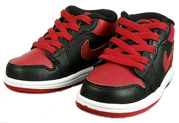 nike gs jordan 1 phat low td [black/varsity red-white] (338148-061) ナイキ ジョーダン1 ファット ロー TD 「黒/赤」