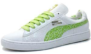 puma suede tlp [yo! mtv raps x puma | white / lime] (348133-01) プーマ スエード TLP 「YO! MTV RAPS x Puma |白/緑」