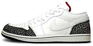 nike air jordan 1 phat low [white/varsity red-black] (350571-161) ナイキ エアジョーダン1 ファット ロー 「白/赤/灰セメント」