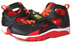 nike air trainer huarache [black/orange/atom red/bright cactus] (679083-081) ナイキ エアトレーナー ハラチ 「黒/赤/オレンジ」