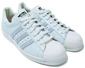 adidas super star 80s [white/grey] (668430) アディダス スーパースター 80s 「白/グレー」