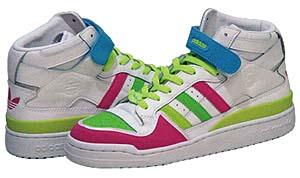 adidas forum mid [white/multi color / 25th anniversary model] (676280) アディアス フォーラム ミッド 「白/マルチカラー / 25周年記念」