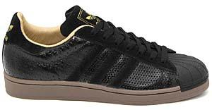 adidas superstar1 [black/black/neo beige] (662823) アディアス スーパースター1 「黒パンチング」