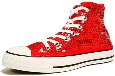 converse chuck taylor all star hi sequins [red spangles] (101724) コンバース チャックテーラー オールスター ハイ シークウィンズ 「レッド・スパンコール」