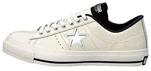 converse one star cr ox [white/crocodile] コンバース ワンスター CR OX 「白/クロコダイル」