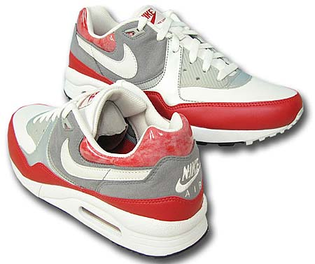 NIKE AIR MAX LIGHT [SPORT RED/WHITE-STEALTH-METALLIC PLATINUM] 315827-611