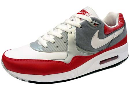 NIKE NIKE AIR MAX LIGHT [SPORT RED/WHITE-STEALTH-METALLIC PLATINUM] 315827-611 画像