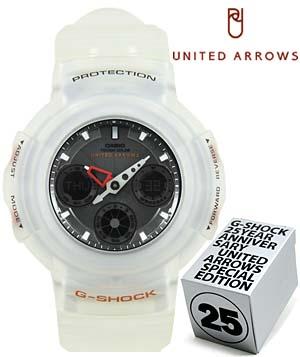 g-shock 25周年 united arrows special editon (awg-525uaj-7ajr) G-SHOCK 25周年 「ユナイテッド・アローズ」 スペシャルエディション