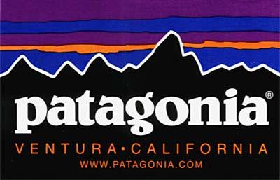 カラーモチーフとなった「patagonia」ロゴ