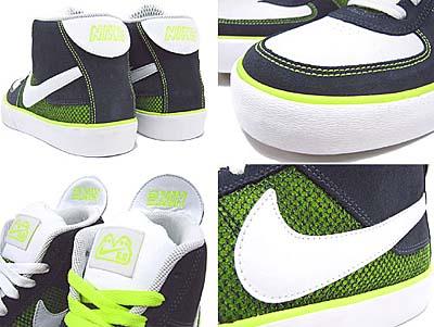 蛍光グリーンのシューレースも付属。とにかくグリーンの発色がキレイ