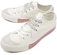 Rhythm Footwear SANDWICH LO [WHITE/RED LINE]