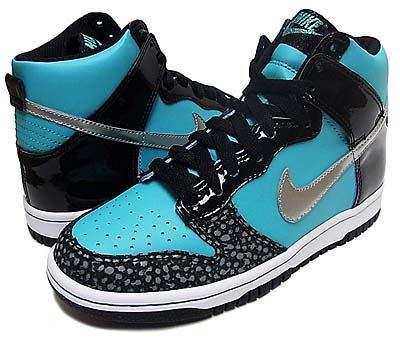 NIKE GS DUNK HIGH [RETRO/METALIC SILVER/BLACK] 写真1