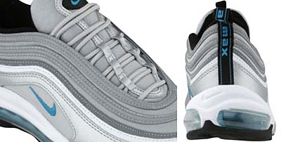 NIKE AIR MAX 97 [METALLIC SILVER/MRN BLUE/WHITE/BLACK] 写真1