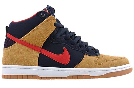 NIKE DUNK HIGH PREMIUM SB [DARK OBSIDIAN/VARSITY RED-MAPLE] 313171-400 写真1