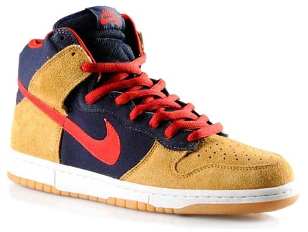 NIKE DUNK HIGH PREMIUM SB [DARK OBSIDIAN/VARSITY RED-MAPLE]