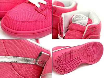 NIKE WMNS DUNK HIGH PREMIUM [PINK FLASH/METALLIC SILVER-WHITE] 写真1