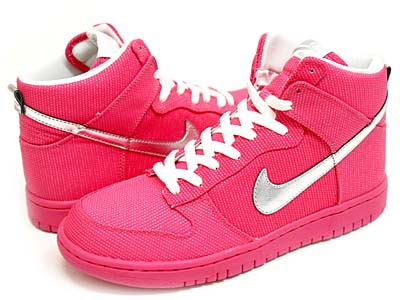 NIKE WMNS DUNK HIGH PREMIUM [PINK FLASH/METALLIC SILVER-WHITE]