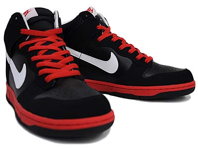NIKE DUNK HIGH [BLACK/WHITE/SPORT RED] 写真1