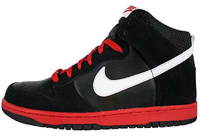 NIKE DUNK HIGH [BLACK/WHITE/SPORT RED]