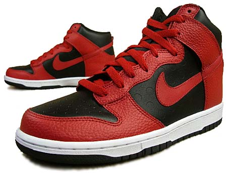 NIKE DUNK HIGH [BLACK/VARSITY RED-WHT-VRSTY RD]