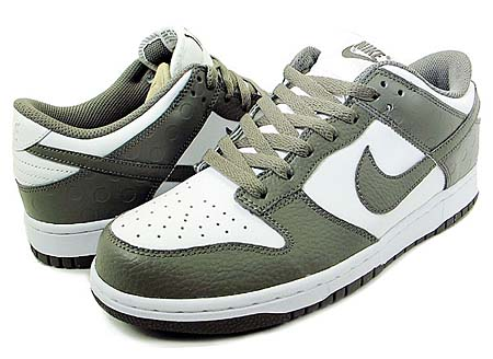 NIKE DUNK LOW [WHITE/SOFT GREY]