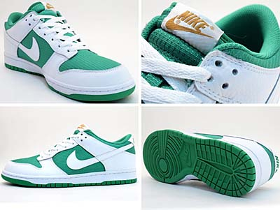 NIKE DUNK LOW [LUCKY GREEN/WHITE-MTLLC GOLD] 写真1