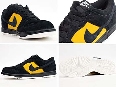 NIKE DUNK LOW '08 CL ND [BLACK/BLACK-GOLD DART] 318020-007 写真1