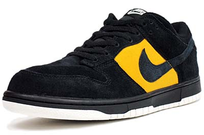 NIKE DUNK LOW '08 CL ND [BLACK/BLACK-GOLD DART]
