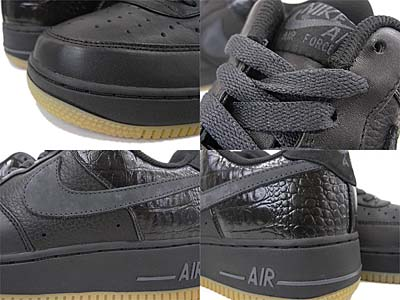 NIKE AIR FORCE 1 LOW PREMIUM [BLACK/ANTHRACITE-GM LGHT BROWN] 写真1