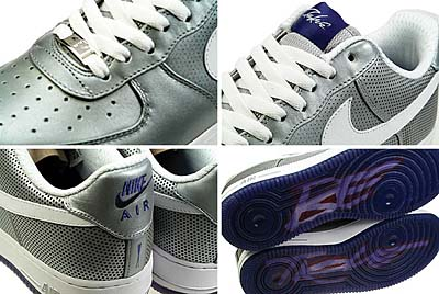 NIKE AIR FORCE 1 LOW PREMIUM 08 LE [MTLLC SILVER/WHITE-WCKD PRPL|FUTURA] 写真1