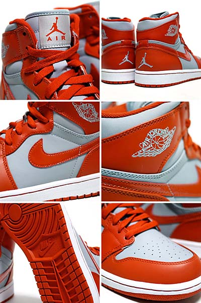 NIKE AIR JORDAN 1 RETRO HIGH [WOLF GREY/SPICE-WHITE] 写真1