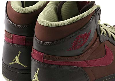 NIKE AIR JORDAN 1 RETRO [CHOCOLATE/VELVET BROWN-SAGE-GARNET] 写真2