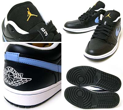 NIKE AIR JORDAN 1 PHAT LOW [BLACK/UNIVERSITY BLUE-TX-WHITE] 写真1