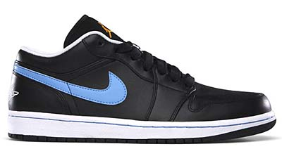 NIKE AIR JORDAN 1 PHAT LOW [BLACK/UNIVERSITY BLUE-TX-WHITE]