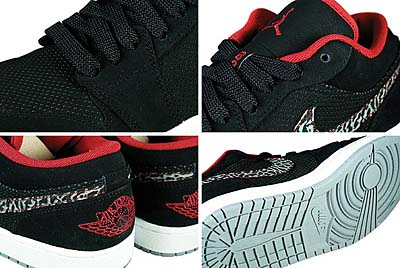 NIKE AIR JORDAN 1 PHAT LOW [BLACK/VARSITY RED/CEMENT GREY] 写真1