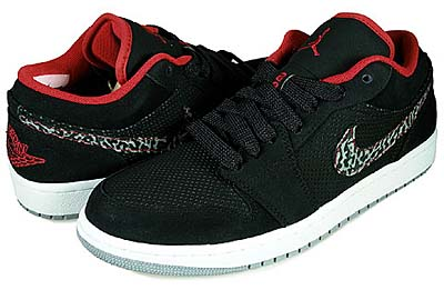 NIKE AIR JORDAN 1 PHAT LOW [BLACK/VARSITY RED/CEMENT GREY]