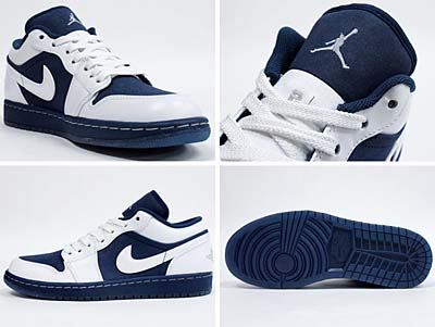 NIKE AIR JORDAN 1 PHAT LOW [WHITE/MIDNIGHT NAVY-VRSTY RED] 写真1