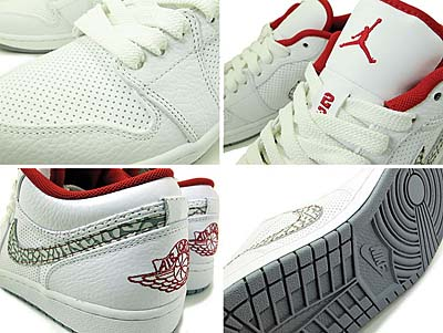 NIKE AIR JORDAN 1 PHAT LOW [WHITE/V.RED/C.GREY] 338145-113 写真1