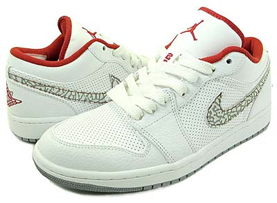 NIKE AIR JORDAN 1 PHAT LOW [WHITE/V.RED/C.GREY]