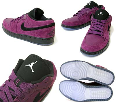 NIKE AIR JORDAN 1 PHAT LOW [GRAPE/WHITE] 写真1