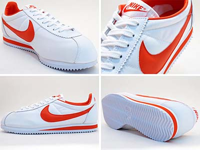 NIKE CLASSIC CORTEZ NYLON 09 [WHITE/TEAM ORANGE-WHITE] 写真1