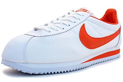 NIKE CLASSIC CORTEZ NYLON 09 [WHITE/TEAM ORANGE-WHITE]