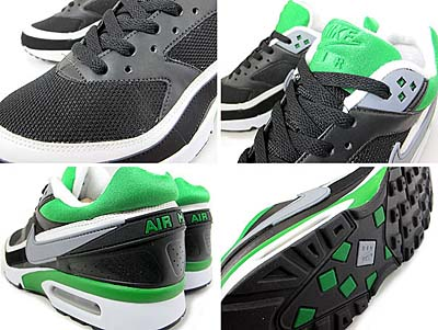 NIKE AIR CLASSIC BW TEXTILE [BLACK/GREEN] 358797-007 写真1