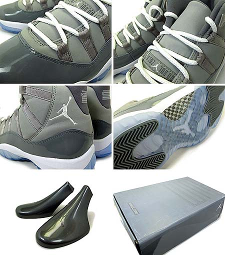 NIKE AIR JORDAN 11 RETRO [MEDIUM GREY/WHITE-COOL GREY] 378037-001 写真2
