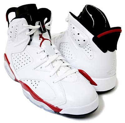 NIKE AIR JORDAN 6 RETRO [WHITE/VARSITY RED-BLACK] 写真1