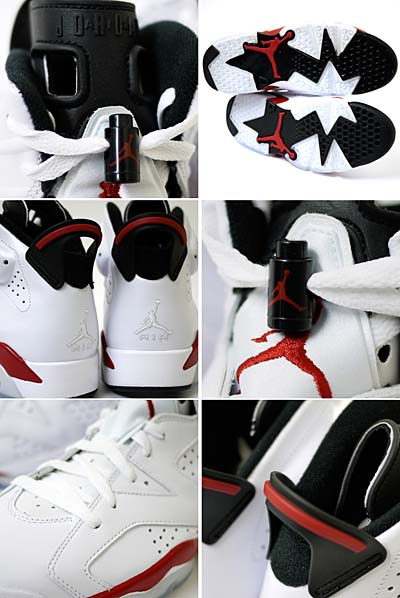 NIKE AIR JORDAN 6 RETRO [WHITE/VARSITY RED-BLACK] 写真2