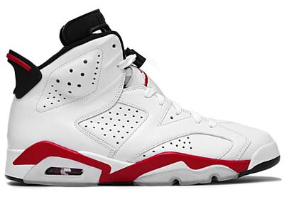NIKE AIR JORDAN 6 RETRO [WHITE/VARSITY RED-BLACK]