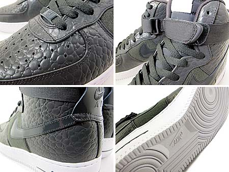 NIKE AIR FORCE 1 HIGH PREMIUM LE [DARK SHADOW/DARK SHADOW-WHITE] 386161-006 写真1