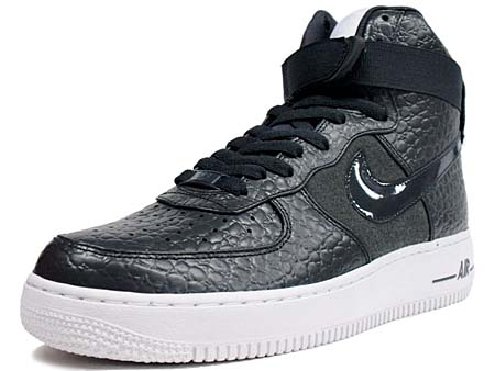 NIKE AIR FORCE 1 HIGH PREMIUM LE [DARK SHADOW/DARK SHADOW-WHITE]